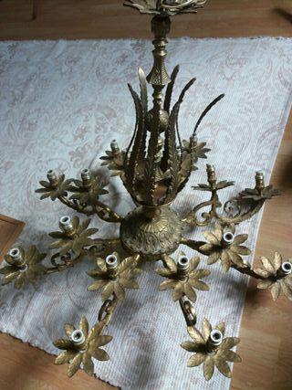 Lámpara de bronce Clasica
