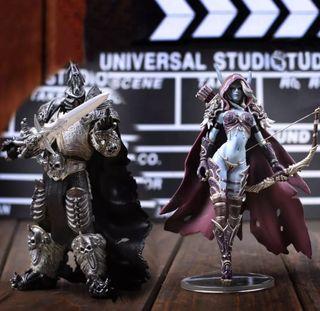 Figura Sylvanas Y Arthas World Of Warcraft WOW