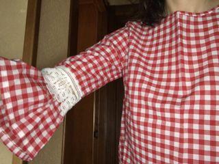 Camisa cuadros Vichy talla 38