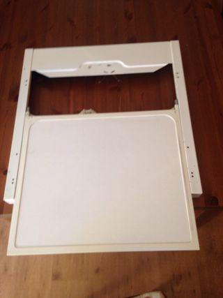 Kit union lavadora secadora universal con bandeja
