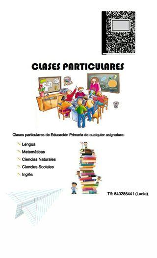 Clases particulares Ed. Primaria y ESO