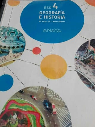 LIBROS DE GEOGRAFÍA E HISTORIA 4 ESO