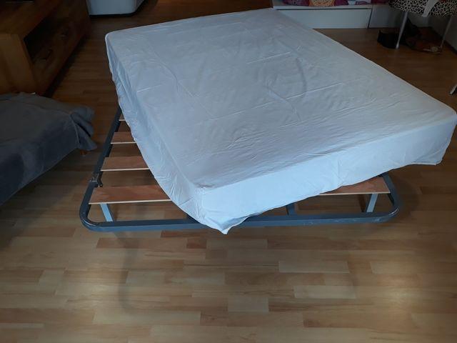 Somier Pikolin + colchón látex 1,35 cm de segunda mano por 100