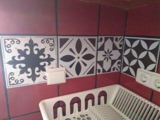 Mosaicos adhesivos decorativos