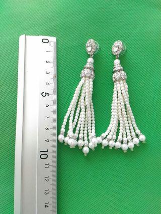 Pendiendes de perlitas y cristales .Nuevos !
