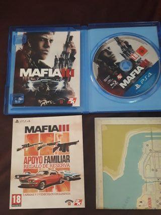 mafia 3 ps4 con funda de plastico