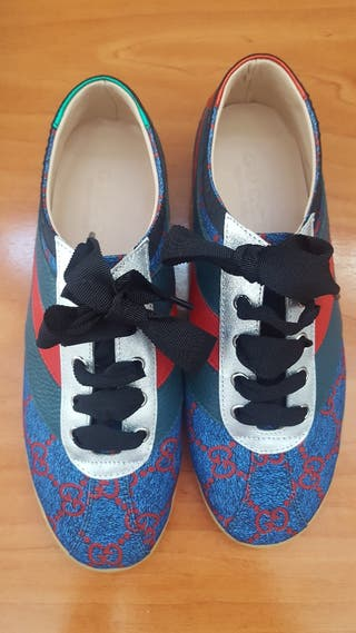 Zapatillas Gucci de segunda mano en Barcelona en WALLAPOP 6f7f25e6343