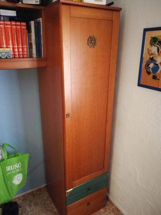 Nido (estantería + escritorio + cama + cortina)