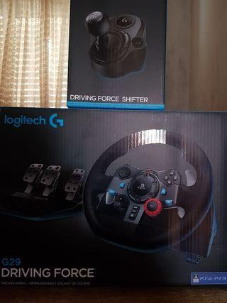 Volante Logitech Driving Force G29 para PS4