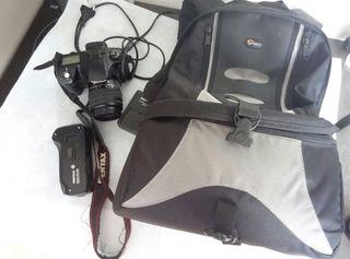 Pentax K10D Grip D-BG2 Mochila Lowepro 18-55mm