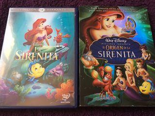DVD Disney. La sirenita y El origen de la sirenita