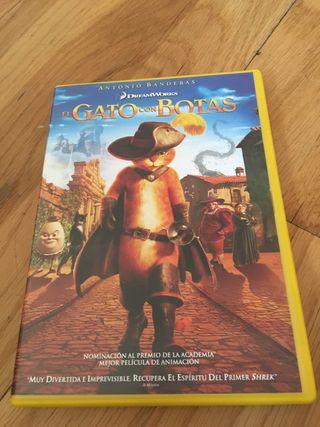 DVD infantil Gato con Botas
