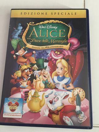 DVD Alicia en el país de las maravillas. En italiano.
