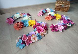numeros y letras flores