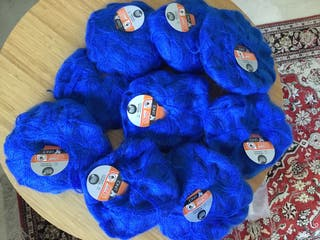 Lote de madejas de lana