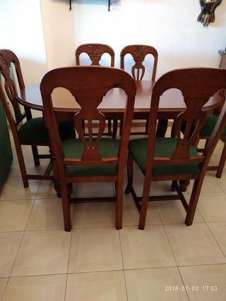 Mesa comedor con sillas de segunda mano en la provincia de Almería ...