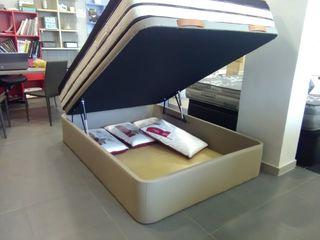 Canapé abatible tapizado polipiel