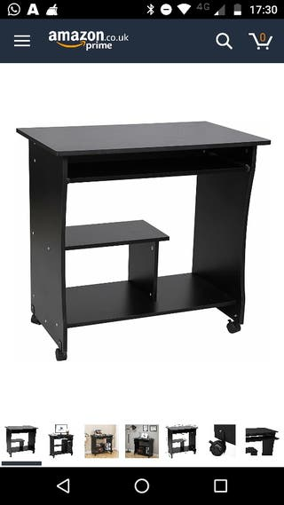 Movable computer desk + chair