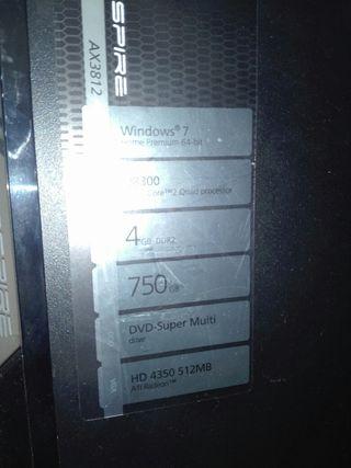 ordenador acer spire ax3812