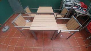 mesas y sillas exterior