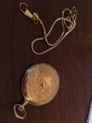Reloj bolsillo bañado en oro