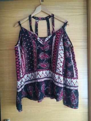 blusa camiseta hippie talla M anchita