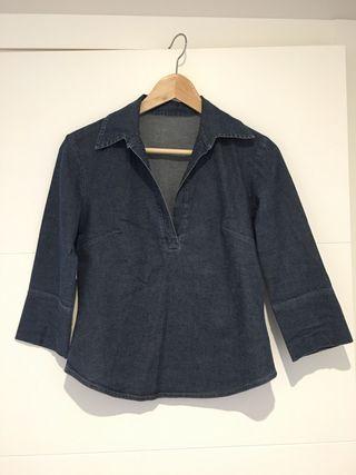 Camisa Vaquera manga francesa