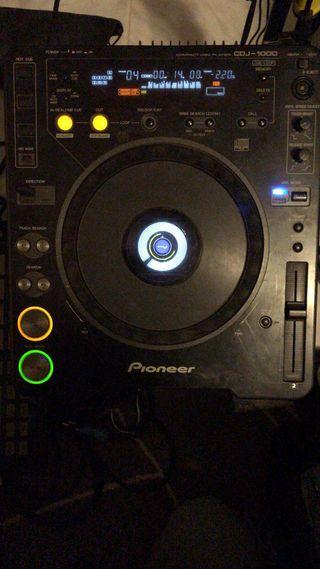 Pareja Cdj-1000 pioneer