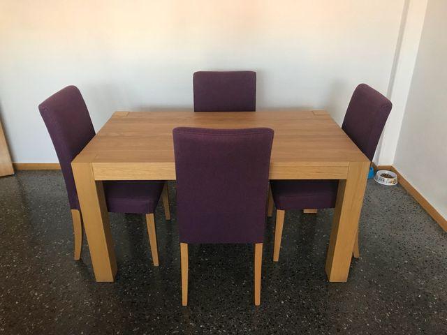 Mesa y 4 sillas de comedor de Ikea de segunda mano por 225 € en ...