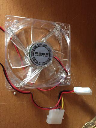 Ventilador para cpu con luz led de colores