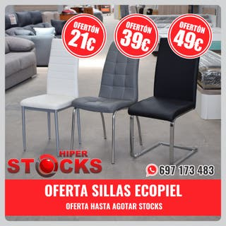 SILLAS ECOPIEL - OFERTA HASTA AGOTAR STOCKS!