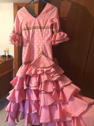 Vestido flamenca 10 a 12 años