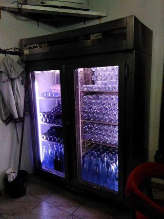 armario frigorífico expositor acero inoxidable