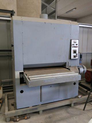 Calibradora carpinteria madera desbarbadora chapa