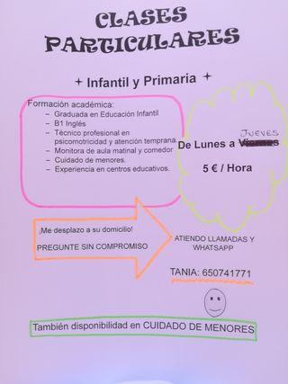 CLASES PARTICULARES PARA VERANO. REFUERZO Y REPASO