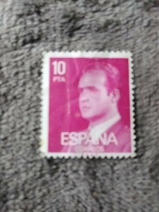 sello diez pesetas