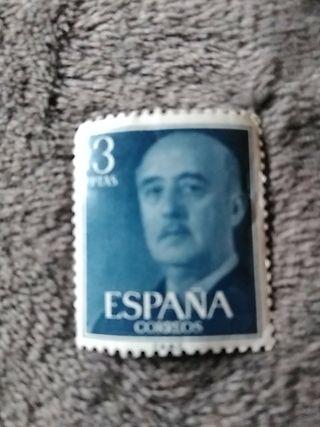 sello 3pesetas Franco