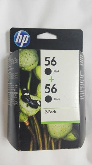 cartuchos HP tinta negra 56