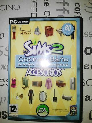 Los Sims 2 accesorios cocina y baño