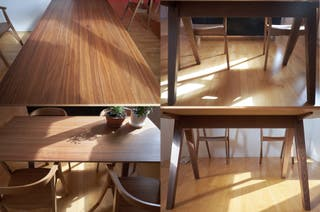 Mesa + 4 sillas STOCKHOLM nogal (IKEA)