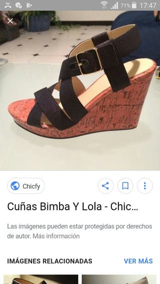 sandalias de cuña Nuevas Bimba y Lola T . 38