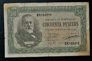 Billete . Spain . 50 pesetas 1940