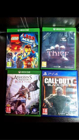 Videojuegos Xbox one y play Station
