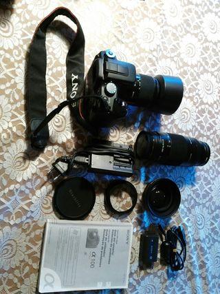 Camara de fotos Sony reflex SLR con Tele y Macro