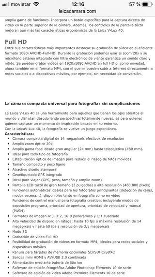 Leica Cámara V-lux 40