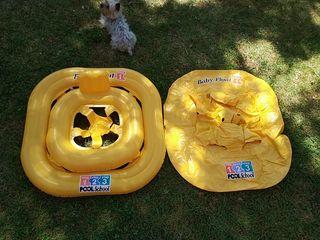 flotador para bebés, color amarillo. piscina playa
