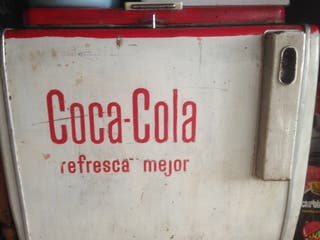 Nevera vintage de coca cola