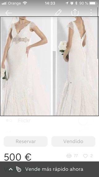 vestido de novia talla 36 de segunda mano en san sebastián de los