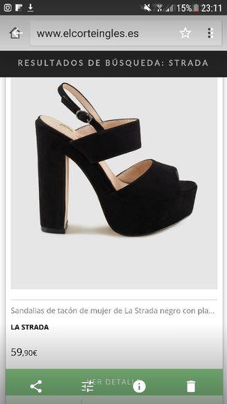 Sandalias tacon La Strada