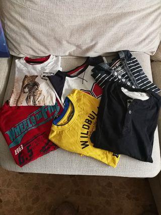 6 camisetas de manga larga